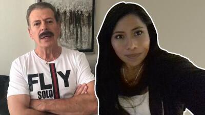 Sergio Goyri felicita a Yalitza Aparicio previo a la entrega de los premios Oscar