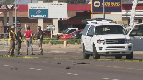 Policía de Phoenix murió atropellado cuando investigaba un accidente vehicular