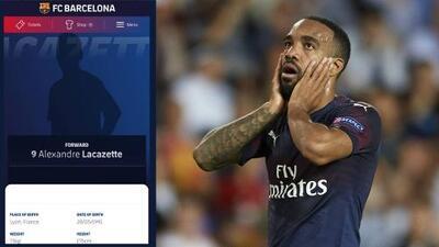 ¿En lugar de Griezmann? El Barcelona 'anuncia' por error el fichaje de Lacazette
