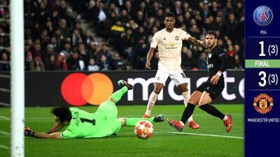 El United, con el VAR como aliado, hizo un milagro en París y eliminó al PSG