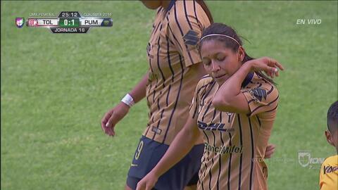 ¡Goool de Pumas Femenil! Estefany Hernández abre el marcador ante Toluca