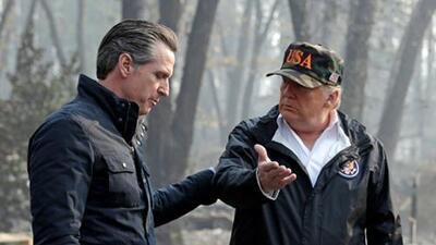"""Son """"Fake News"""", responde el gobernador de California al último ataque del presidente Trump"""