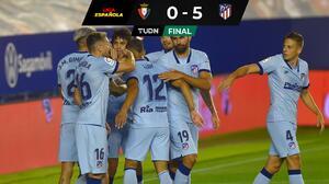 Goleada del Atlético con Héctor Herrera los 90 minutos