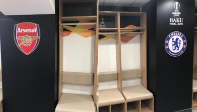La intimidad de los vestidores de Chelsea y Arsenal para la Final de la Europa League