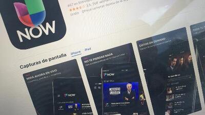 ¿Cómo se descarga la app Univision Now y qué contenido puedo encontrar en ella?