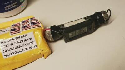 Revelan la imagen del paquete sospechoso encontrado en el centro de operaciones de CNN