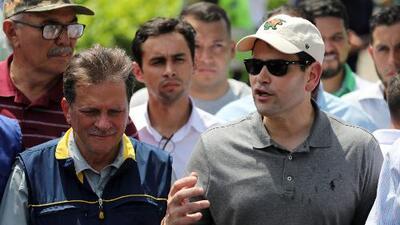 Marco Rubio visita la frontera de Colombia con Venezuela mientras llegan los aviones de EEUU con ayuda humanitaria