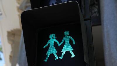 Los nuevos semáforos de Madrid, símbolo contra la homofobia