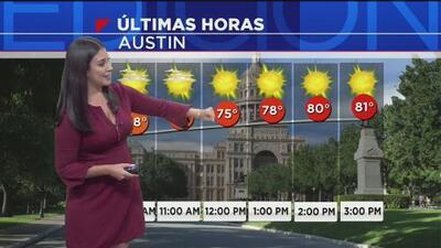 Austin tendrá una tarde de martes calurosa