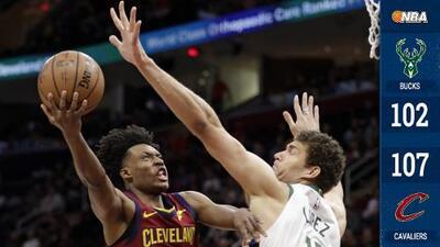 Los Cavaliers sorprenden a los Bucks, que aún no cuentan con Giannis