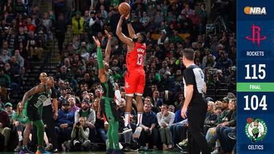 Rockets ganan en Boston con otro juego de Harden superando los 40 puntos