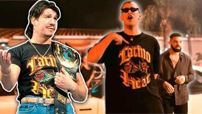 Bad Bunny rinde tributo a su ídolo de la lucha libre en el video que grabó junto al rapero Drake