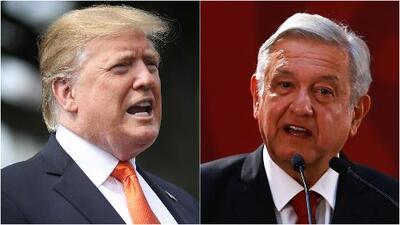 Mientras Trump insiste que México no hace lo suficiente por detener la caravana de migrantes, AMLO dice que no se dejará provocar