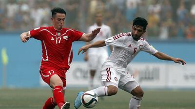 Palestina juega por primera vez en su territorio un partido mundialista
