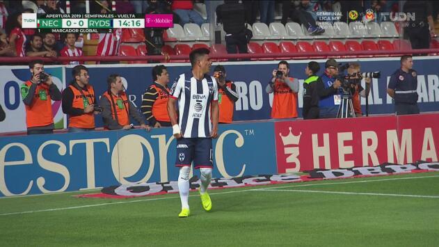 ¡Se ahoga el grito de gol de Rayados por claro fuera de lugar!