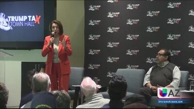 Nancy Pelosi advierte en Phoenix de los riesgos de la reforma fiscal
