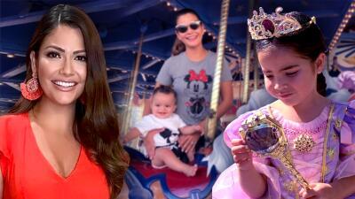 Ana Patricia llevó a Gael por primera vez a Disney pero la que más gozó fue la princesa Giulietta