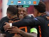 Holanda golea a Macedonia del Norte y avanza líder del Grupo C en la Euro 2020