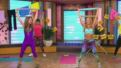 Claudia Molina te ayuda a hacer ejercicio en la sala de tu casa