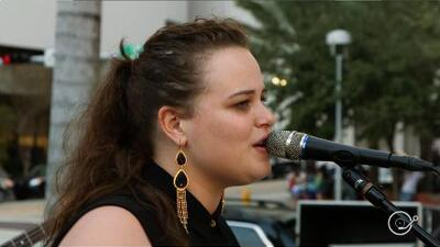 Yoli Mayor performs 'Dazed and Confused' (soundcheck at Biscayne Green)
