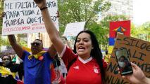 Cientos de personas en Manhattan piden intervención internacional frente a la situación de violencia en Colombia