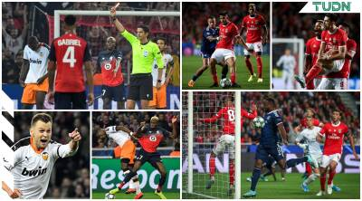 Benfica gana; Lille y Valencia reparten puntos