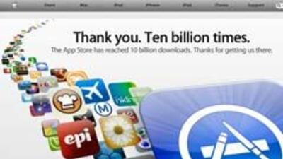 Apple superó los 10 mil millones de apps.