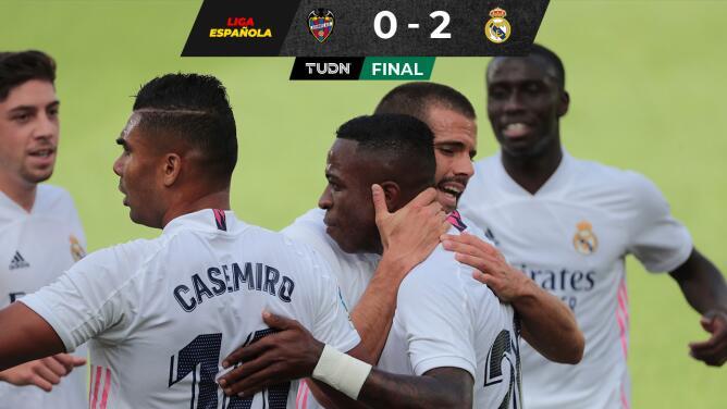 Tras vencer al Levante, el Real Madrid es líder