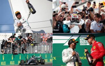 En fotos: Lewis Hamilton viene de atrás para apoderarse del GP de Hungría