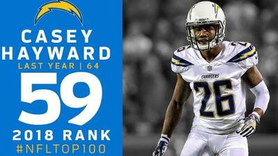 #59 Casey Hayward (CB, Chargers) | Top 100 Jugadores NFL 2018