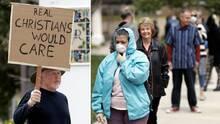 Miles de fieles se congregan en la iglesia Grace Community en California, sin mascarillas ni distancia social