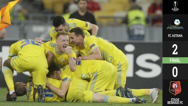 El Astana da un golpe de autoridad en el Grupo K al vencer al Rennes en la Europa League