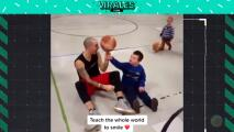 Un balón dé basquetbol es lo que se necesita para alegrar el día