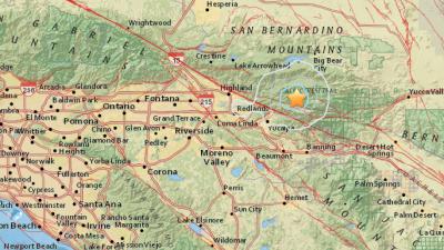 Un temblor de 3.1 grados sacude el condado de San Bernardino