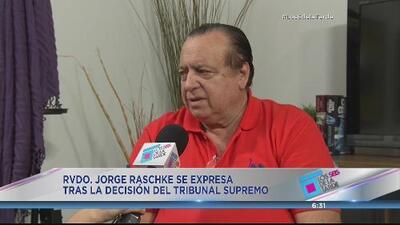 Jorge Raschke lamenta decisión del Supremo