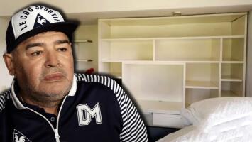 Controversia y más dudas al revelarse las imágenes de la casa donde vivía Maradona