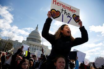 En fotos: La masiva protesta estudiantil contra las armas en secundarias de todo EEUU