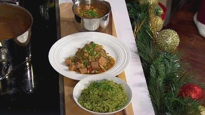 La receta: arroz verde