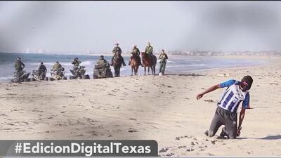 Migrantes de la caravana llegan a Playas de Tijuana con exigencias