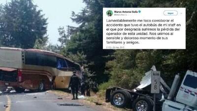 Fuerte accidente del camión de Marco Antonio Solís provoca la muerte de su chófer