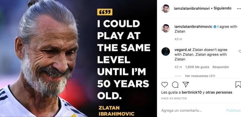 """Zlatan siendo Zlatan: """"Podría jugar al mismo nivel hasta los 50 años"""""""