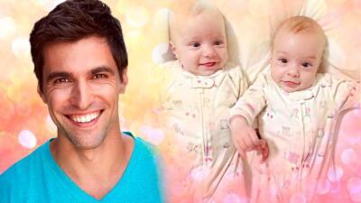 Osvaldo de León envía cariñoso mensaje de cumpleaños a sus gemelas