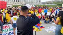 Comunidad colombiana en Utah protesta sucesos violentos en Colombia