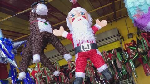 Las piñatas, un elemento infaltable en la decoración de las tradicionales posadas navideñas
