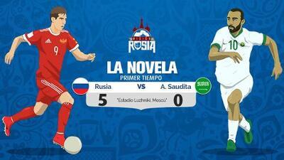 Novela del Rusia-Arabia Saudita: el local goleó 5-0 en un debut soñado