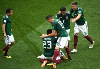En fotos: gigante victoria de México contra Alemania en el grupo F del Mundial Rusia 2018