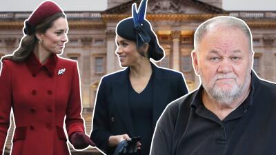 """El papá de Meghan Markle está """"muy molesto"""" por lo que rodea a la relación de su hija con Kate Middleton"""