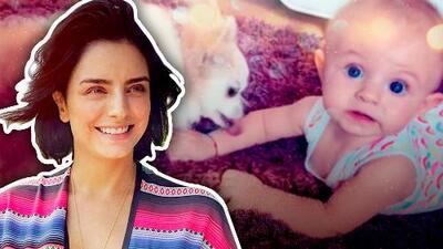 """Aislinn Derbez cree que su bebé será """"más fuerte y sana"""" si su perro la besa (a pesar del peligro)"""