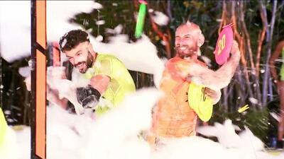 Entre jabón y espuma: Yann finalmente le ganó una prueba a Adrián Di Monte y lo hizo en el Reto 4 Vota