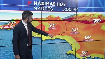 Condiciones cálidas y cielos despejados le esperan a Los Ángeles durante la tarde de este martes